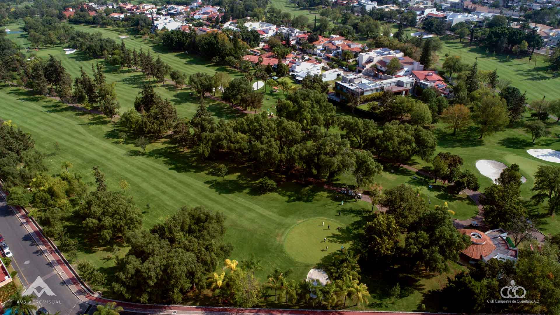club campestre queretaro golf fotografia video aereo
