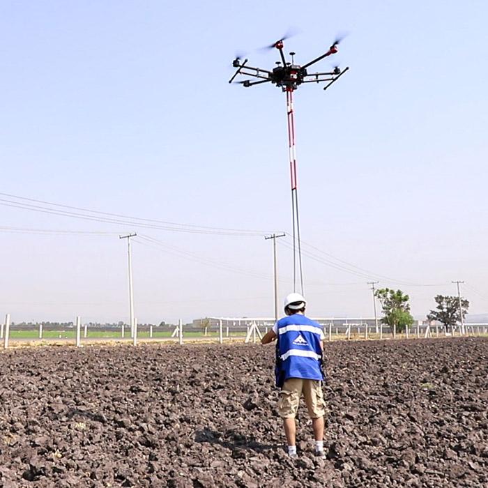 Aeromagnetometría con drones