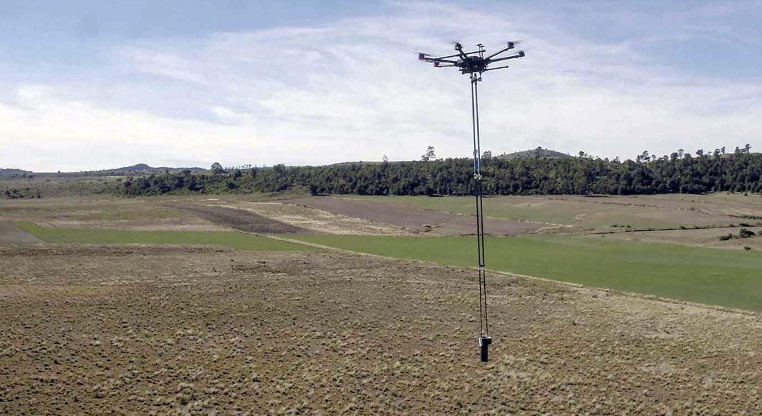 Sistema aeromagnético con drones para exploración