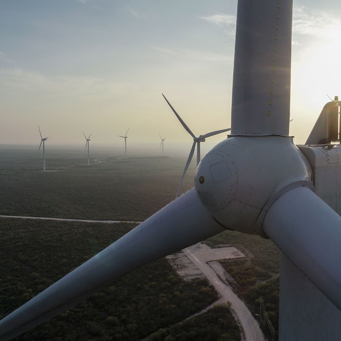 Aerial inspection in wind farm